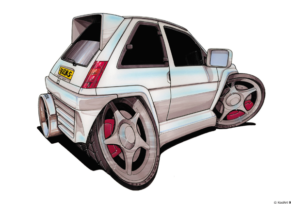 Renault 5 GT TURBO Blanche