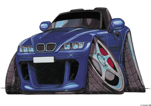BMW Z3 Cabriolet Bleue