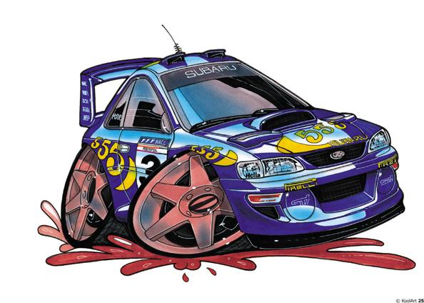 Subaru Impreza Rally Bleue