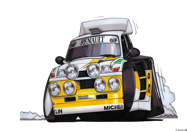 Renault 5 TURBO Rally Blanche
