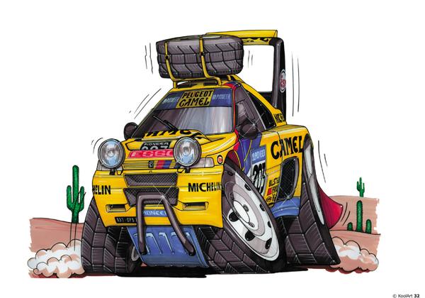 Peugeot 405 T16 Rally Jaune