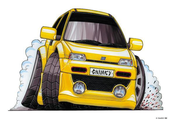 Fiat Cinquecento Sport Jaune