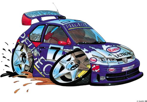 Peugeot 306 Rally Bleue
