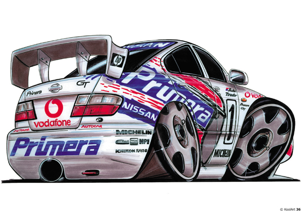 Nissan Primera BTCC GT Rally Blanche
