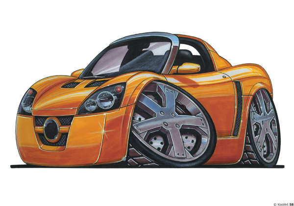 Opel Speedster Orange