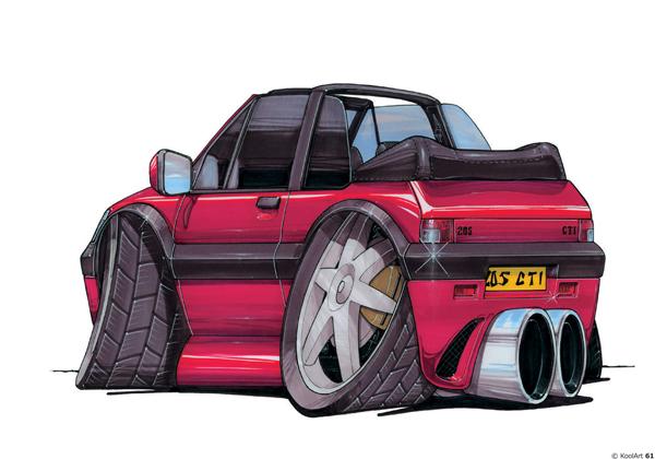 Peugeot 205 CTI Decapotable Rouge
