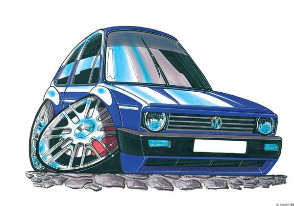 Volkswagen Golf Bleue