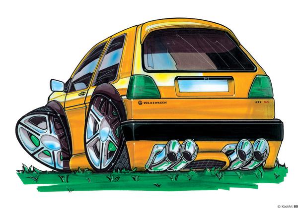 Volkswagen Golf Tunning Jaune