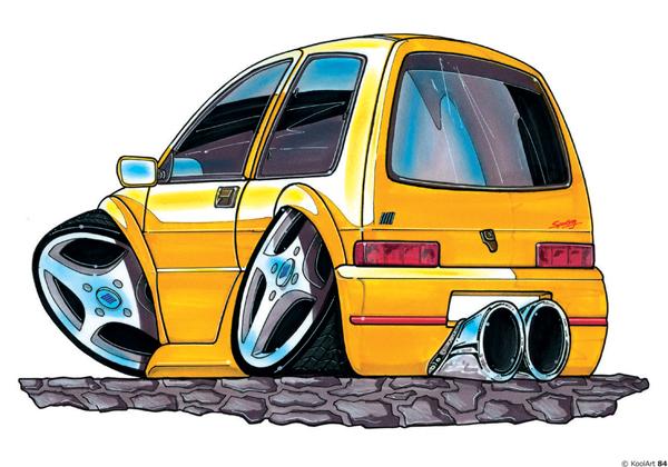 Fiat Cinquecento Tunning Jaune