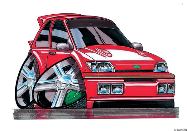 Ford Fiesta XR2i Rouge