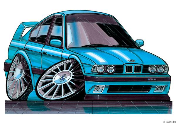 BMW Série 5 Sport Bleue