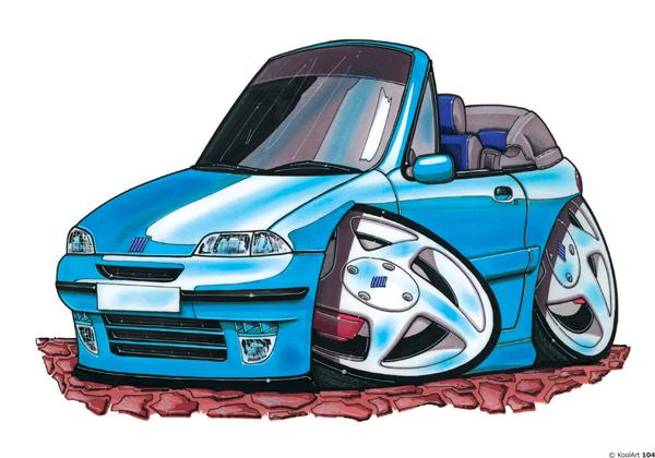 Fiat Punto Cabriolet Bleue