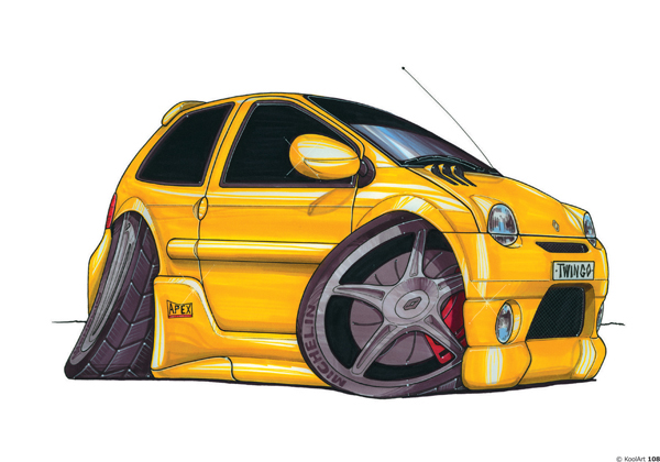 Renault Twingo Tunning Jaune