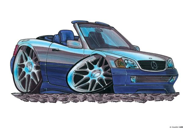 Mercedes 300SL Cabriolet Bleue