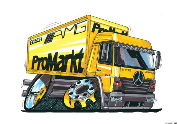 Mercedes Atego AMG Camion Jaune
