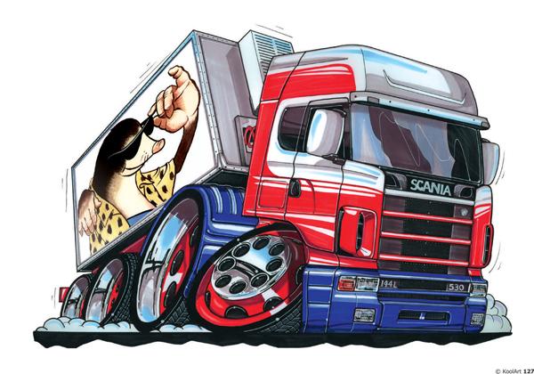 Camion Scania Série S Frigo Gris
