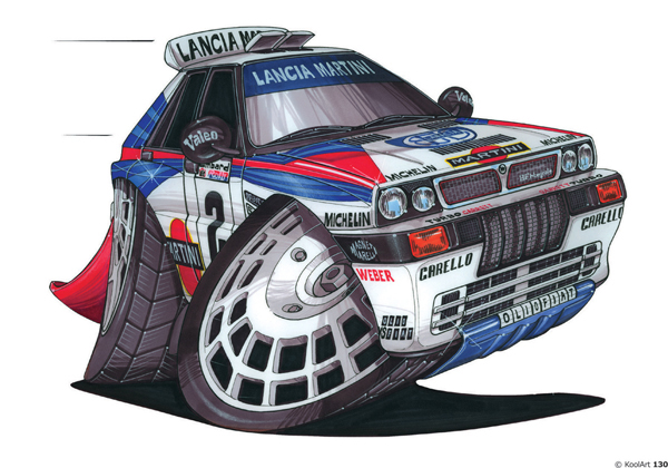 Lancia Delta Integrale Rallye Blanche