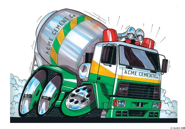 Camion ERF Série C Malaxeur Vert