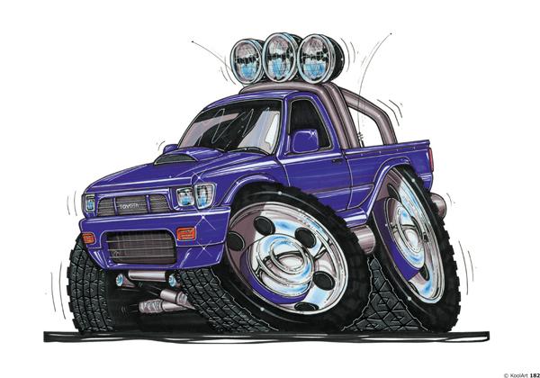 Toyota Hi Lux 4X4 Bleu