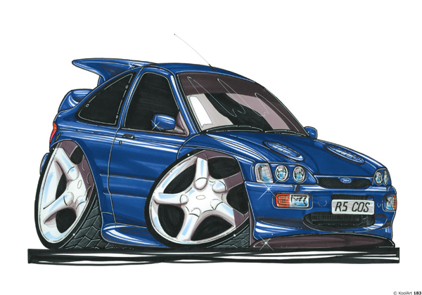 Ford Escort Cosworth Bleue