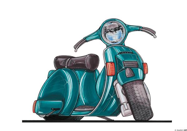 Scooter Vespa PX Vert