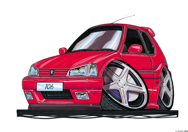 Peugeot 106 Tunning Rouge