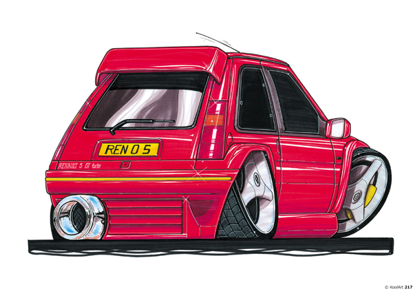 Renault 5 GT TURBO Rouge