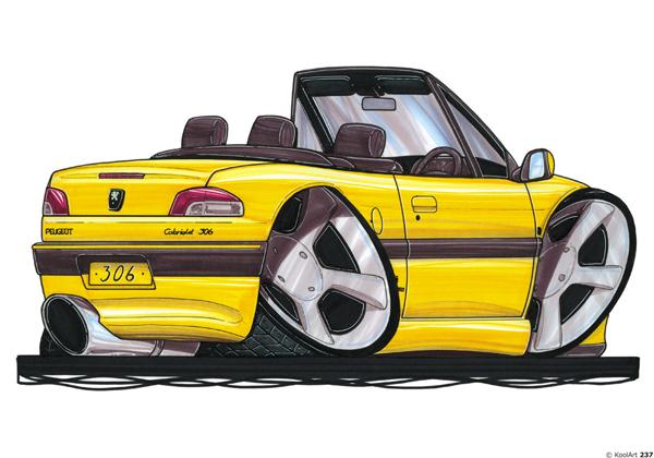 Peugeot 306 Décapotable Jaune