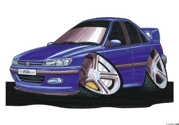 Peugeot 406 Bleu