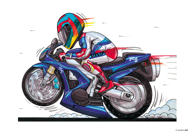 Yamaha R1 Moto Bleue