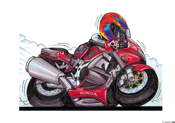 Honda Fireblade Moto Rouge