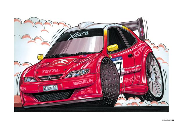 Citroen Xsara rallyeeee Rouge