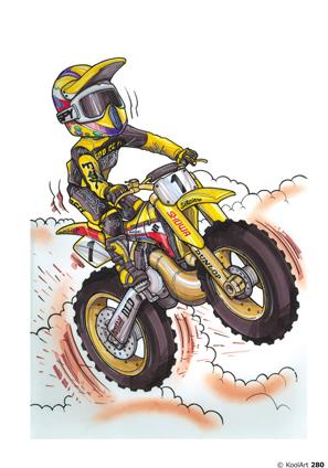 Suzuki RM Moto Cross Jaune