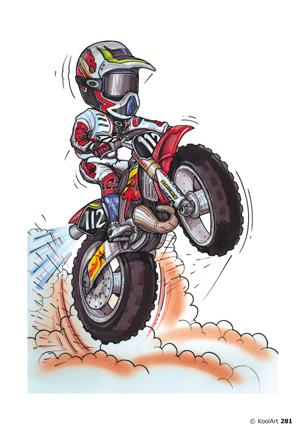 Honda CR Moto Cross Rouge