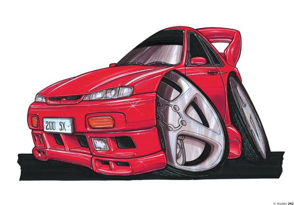 Nissan 200 SX Rouge