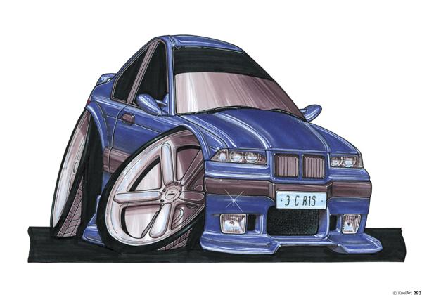 BMW M3 E36 Bleue