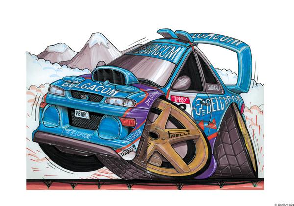 Subaru Impreza rallyeeee Bleue