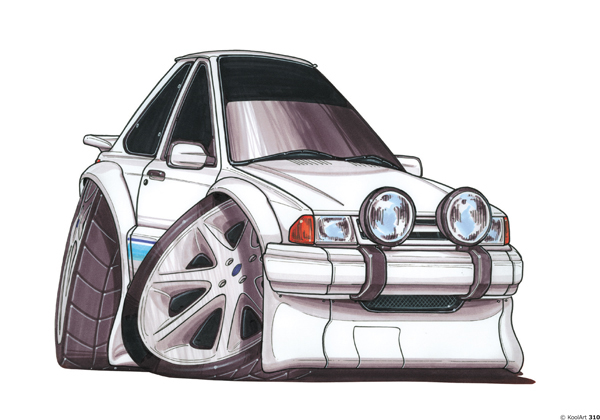 Ford Escort Sport Blanche