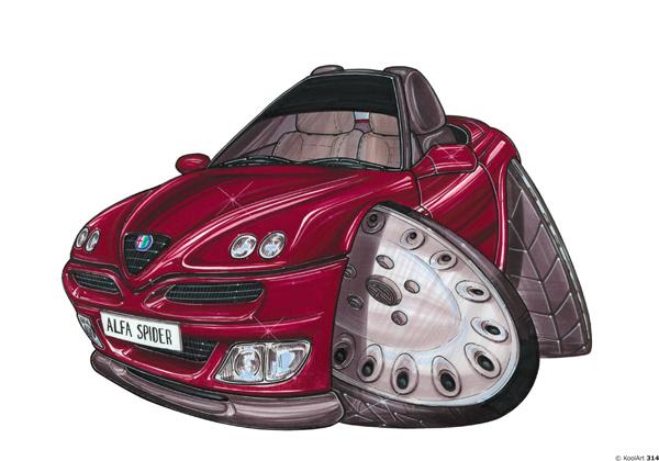 Alfa Roméo Spyder Rouge