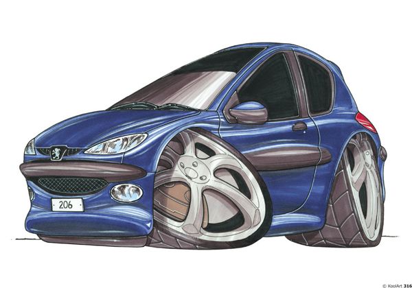 Peugeot 206 Classique Bleue