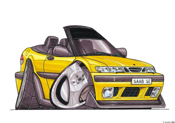 Saab SE Cabriolet Jaune