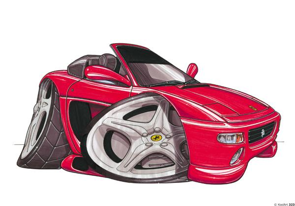 Ferrari 355 Spider Cabriolet Rouge