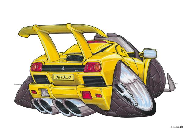 Lamborghini Diablo Jaune