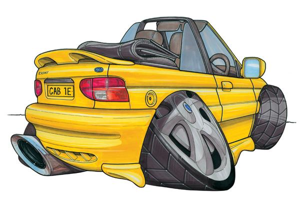 Ford Escort Cabriolet Jaune