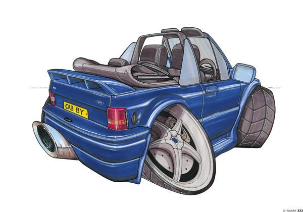 Ford Escort Cabriolet Bleue