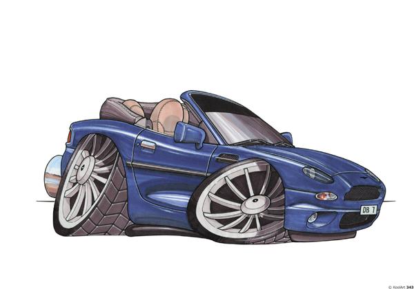 Aston Martin DB7 Bleue