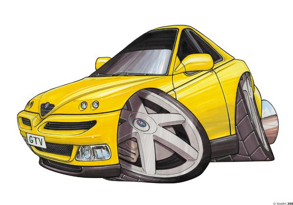 Alfa Roméo GTV Jaune