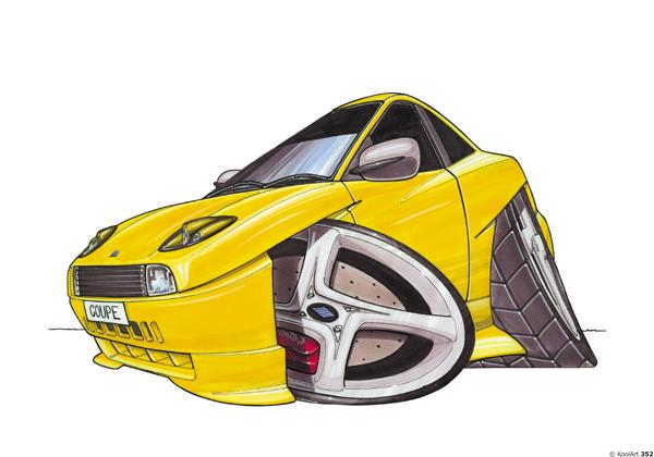 Fiat Coupe Sport Jaune