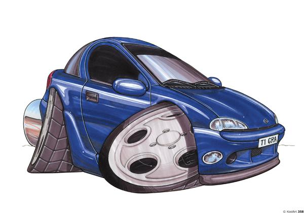 Opel Tigra Bleue