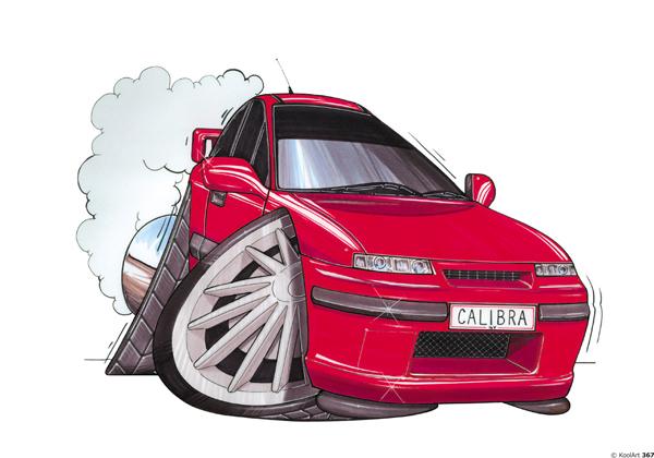 Opel Calibra Rouge